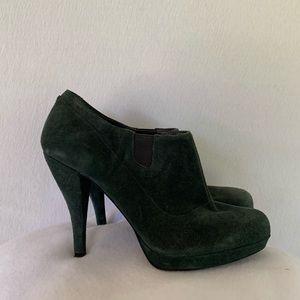 Nine West Alphabeat Suede Green Stiletto Boots